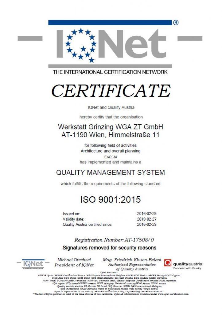 QA Zertifikat
