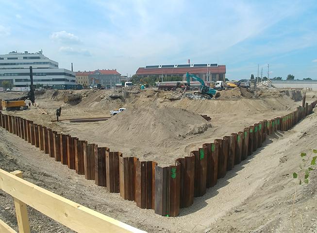 Baubeginn Stadlauer Strasse 64