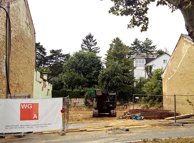 Baubeginn Weinzingergasse 5