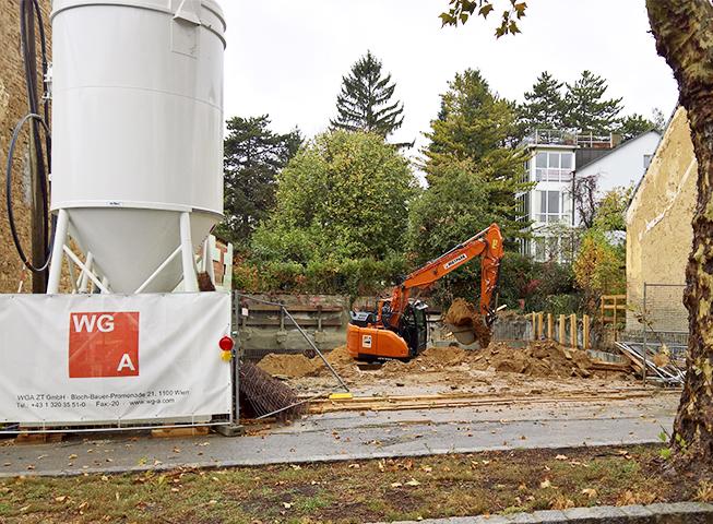 Baufortschritt Weinzingergasse