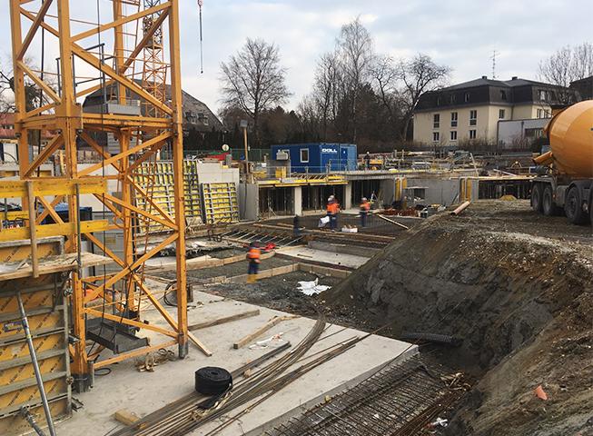 Baufortschritt Gailenbachweg, Salzburg