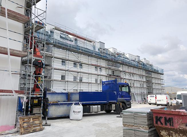 Baufortschritt Cityquartier, Wiener Neustadt